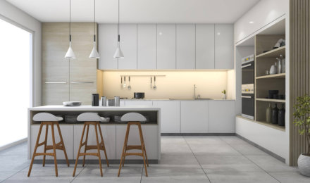 beautiful design of the kitchen