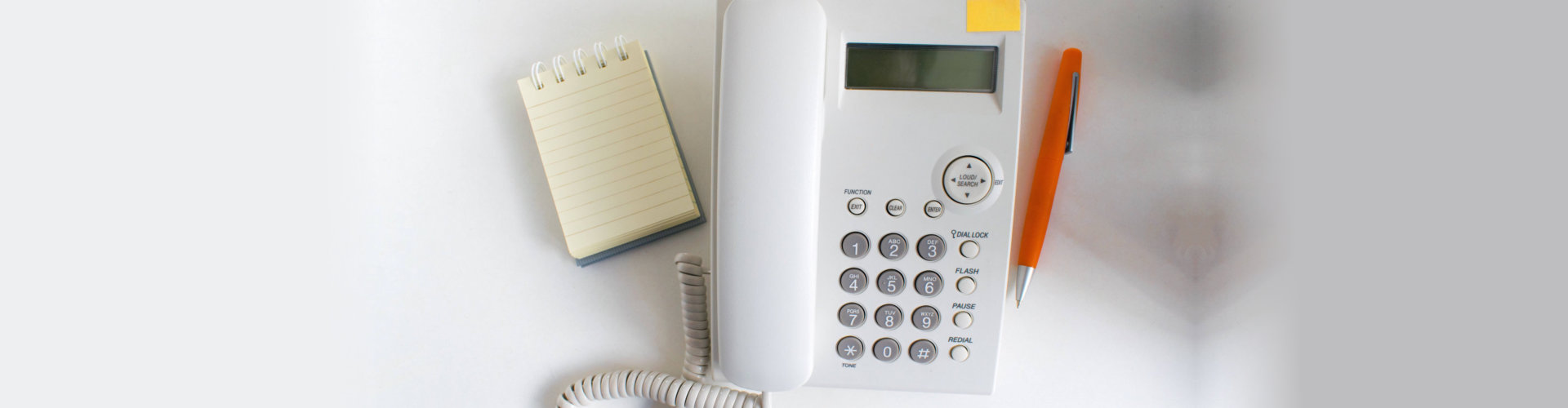 telephone with pad and pen